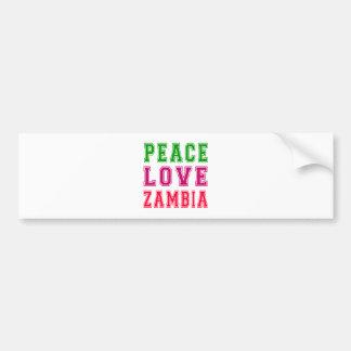 Peace Love Zambia. Bumper Sticker