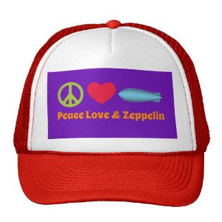 Peace Love Zeppelin Trucker Hat