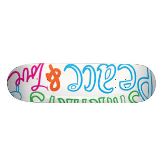 peace lovw skatebord 18.1 cm old school skateboard deck