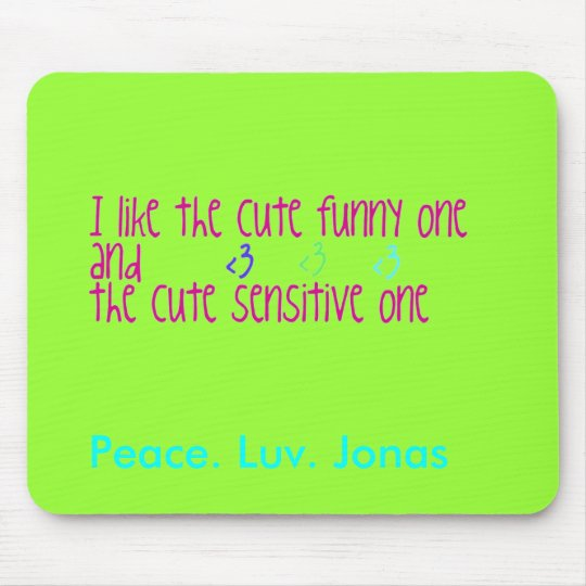 Peace. Luv. Jonas Mouse pad
