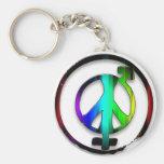 Peace Male and Female Symbols Key Chains