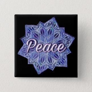 Peace mandala 15 cm square badge