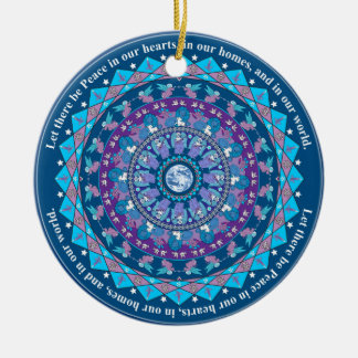 Peace Mandala Christmas Ornament
