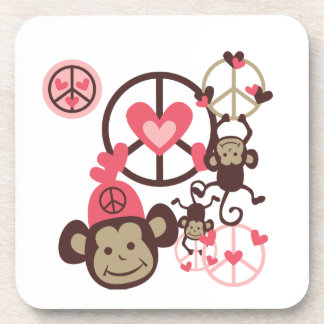 Peace Monkey Beverage Coasters