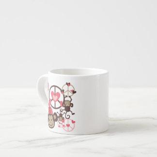 Peace Monkey Espresso Mugs