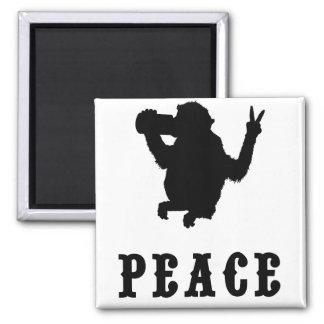 Peace Monkey Magnet