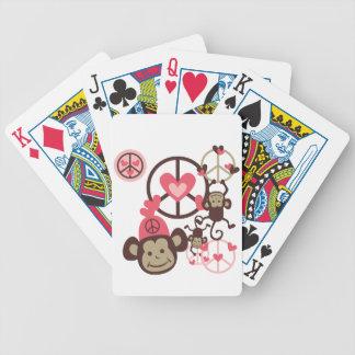 Peace Monkey Poker Cards