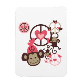 Peace Monkey Vinyl Magnet