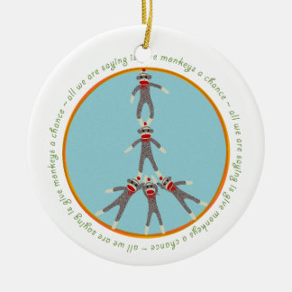 Peace Monkeys Ornament