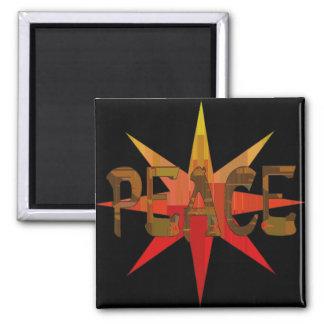 Peace Mosaic Square Magnet