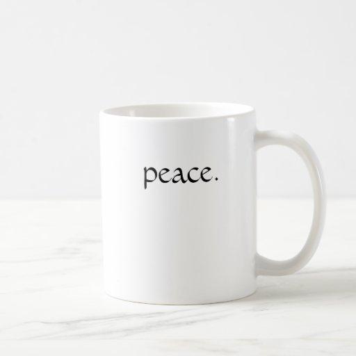 peace. coffee mugs