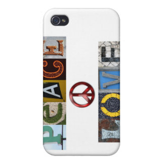 peace n love iPhone 4/4S cases