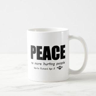 PEACE NO MORE HURTING PEOPLE COFFEE MUG