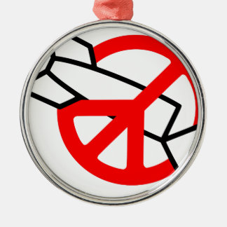 Peace No War Christmas Ornaments