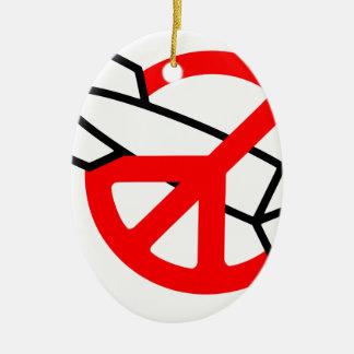 Peace No War Ornaments
