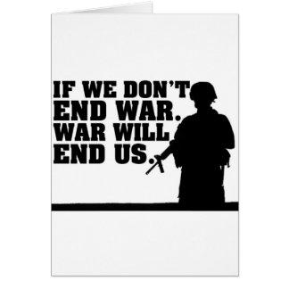 Peace Noe War Greeting Card