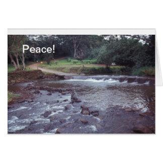 Peace Notecard  Hawaii Stream