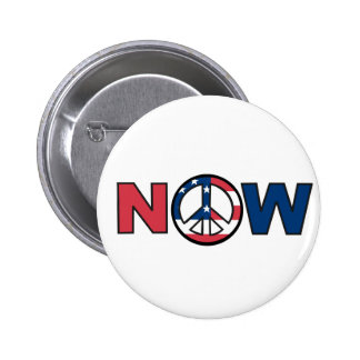 Peace Now Red, White and Blue 6 Cm Round Badge