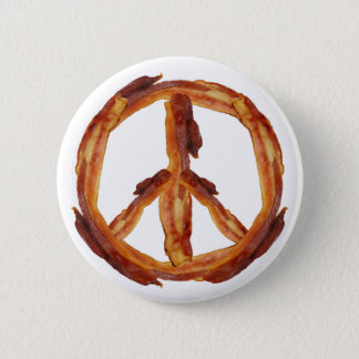 Peace Of Bacon 6 Cm Round Badge