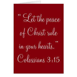 """""""Peace of Christ"""" Scripture Greeting Card"""