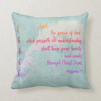 Peace of God Bible Verse Throw Pillow