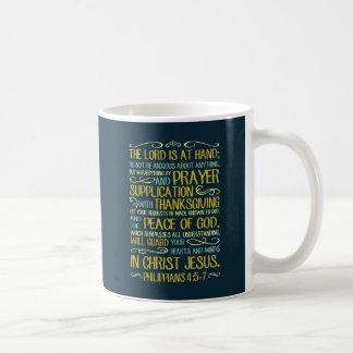 Peace of God Philippians 4:5-7 Basic White Mug
