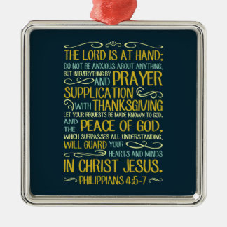 Peace of God Philippians 4:5-7 Christmas Ornament