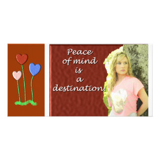 Peace of mind personalised photo card