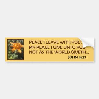 PEACE OFFERINGS 1-2 CAR BUMPER STICKER