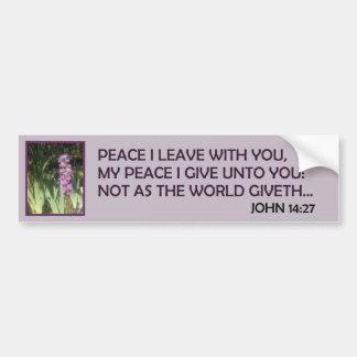 PEACE OFFERINGS 4-2 BUMPER STICKER