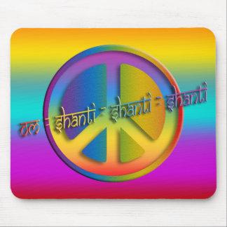 PEACE OM SHANTI | coloured linear Mousepads