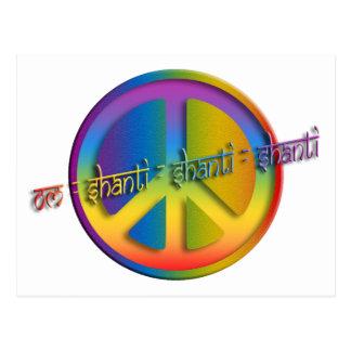 Peace Om Shanti Postcard