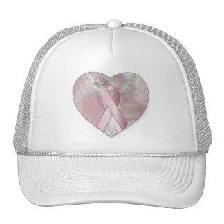 Peace On Angelic Wings Pink RibbonCap-Cust. Cap