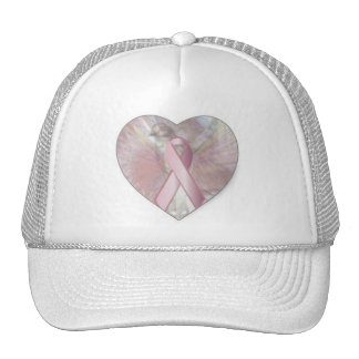Peace On Angelic Wings Pink RibbonCap-Cust Hat