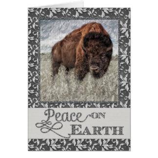 Peace on Earth - American Buffalo - Bison Card