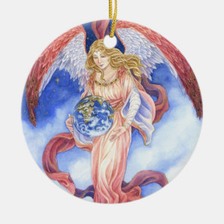 Peace on Earth Angel Christmas ornament
