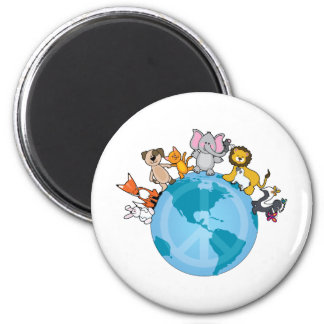 Peace On Earth Animals Magnet