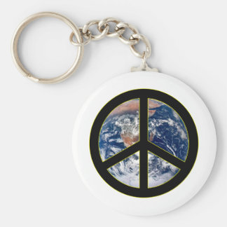 Peace On Earth Basic Round Button Key Ring