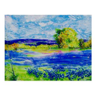 peace on earth Bluebonnet Fields Post Cards