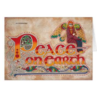 Peace on Earth Celtic Irish Crhistmas Card