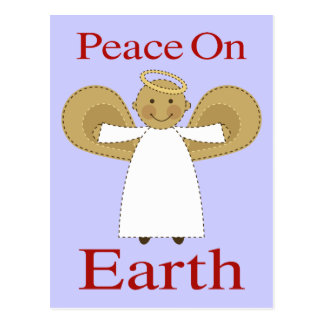 Peace On Earth Christmas Angel Post Card