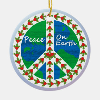 Peace on Earth  Christmas Christmas Ornament