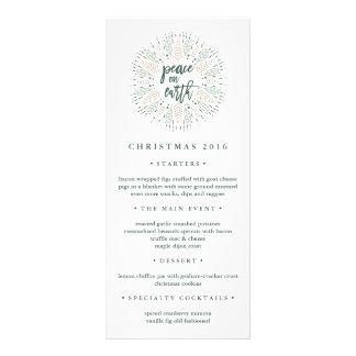 Peace on Earth | Christmas Dinner Menu Custom Rack Cards