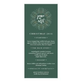 Peace on Earth | Christmas Dinner Menu Rack Card