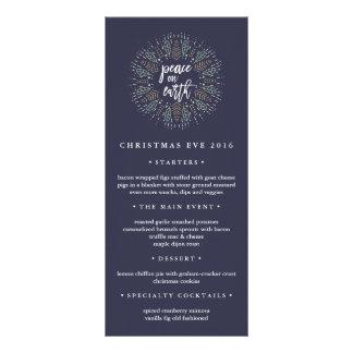 Peace on Earth | Christmas Eve Dinner Menu Rack Card