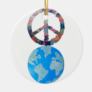 PEACE ON EARTH CHRISTMAS ORNAMENT