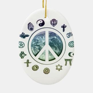 Peace on Earth Christmas Ornament