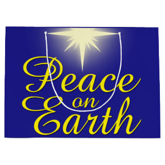 Peace on Earth Christmas Star Holiday Gift Bag