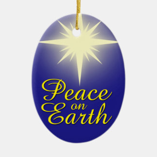 Peace on Earth Christmas Star Holiday Ornament