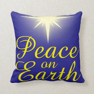 Peace on Earth Christms Star Holiday Pillow